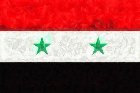 syria: Syria flag painting Stock Photo