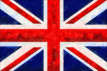 bandera de gran bretaña: pintura de la bandera de Reino Unido Gran Bretaña Foto de archivo