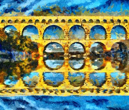 Le pont du Gard Roman aqueduct in France