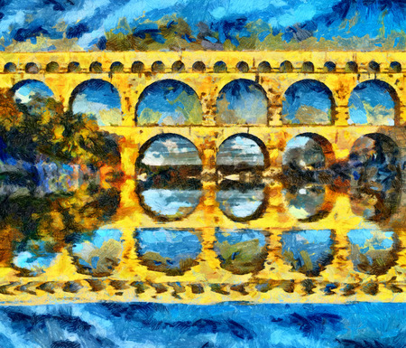 Le pont du Gard Romeinse aquaduct in Frankrijk