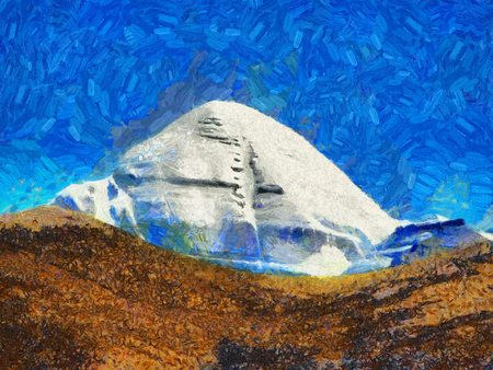 Holy Mount Kailas oil painting