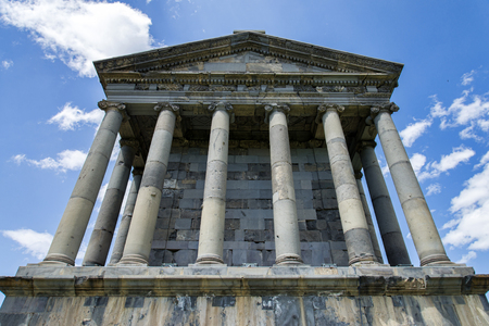 Garni ancient Greek temple in Armenia near Yerevan 版權商用圖片
