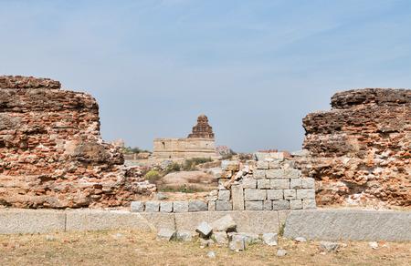 Hampi Vijayanagar empire ruins landscape Фото со стока