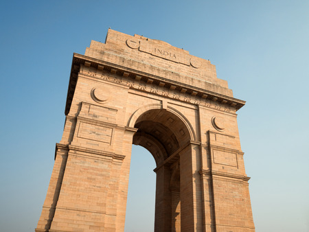 India gate monument in Delhi 版權商用圖片