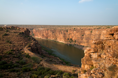 Gandikota  wall and great canyon view 版權商用圖片