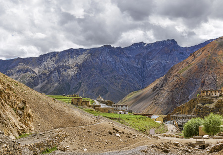 Spiti valley view from Dhankar monastery