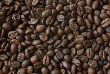 Roasted coffee beans pattern background 版權商用圖片
