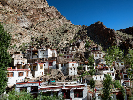 Tibetan village at Hemis monastery in Ladakh 版權商用圖片