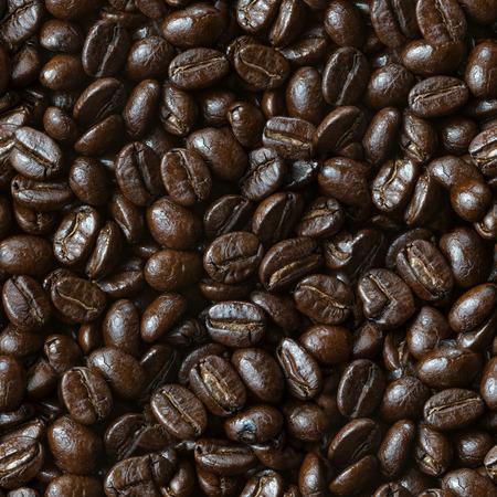 コーヒー豆の焙煎シームレスなテクスチャ パターン 写真素材
