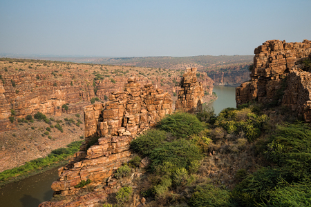 Beautiful red rock grand canyon of India in Gandikota
