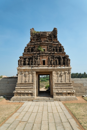 Gate of Vitthala temple in Hampi