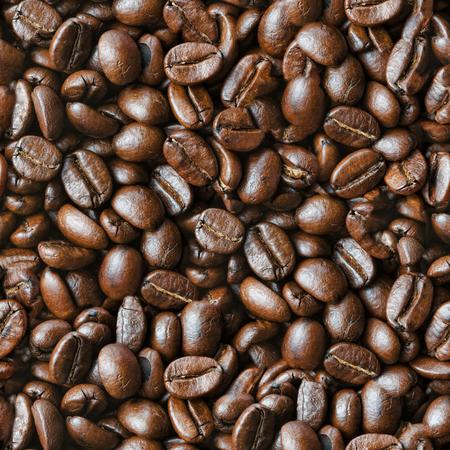 コーヒー豆の焙煎シームレスなテクスチャ 写真素材