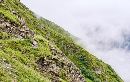 石山のルートに作られたアーチ 写真素材