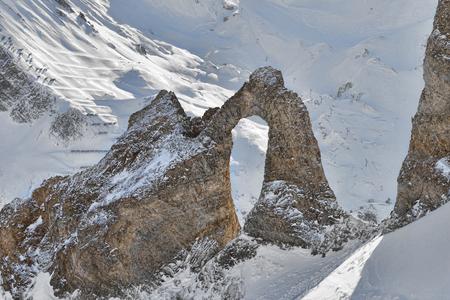 自然の岩のアーチの形成