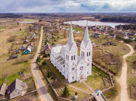 Catholic church in Slabodka, National Park Braslau Lakes, Belarus