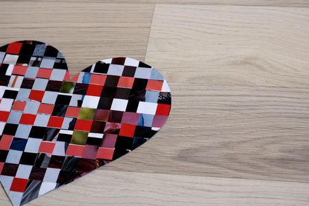 Heart of construction paper - background Stock Photo