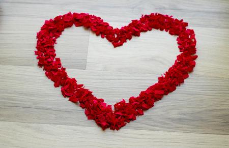 Heart - confetti in the shape of heart - copy space