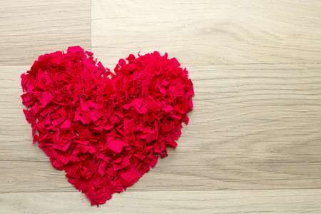 Heart paper - heart of red confetti,   background Stock Photo