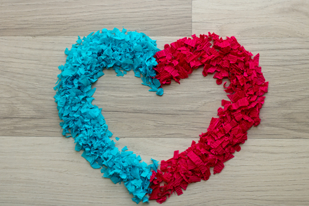Heart - blue and red confetti heart - shaped