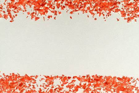 confetti - red confetti on white background, invert