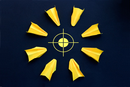 common goal: Business concept or concept of war - target in the center Stock Photo