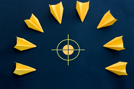 common goal: concept of attack, war or business concept - target Stock Photo