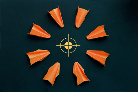 common goal: Target for shooting, attack, business concept