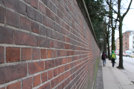 melancholia: red wall Stock Photo