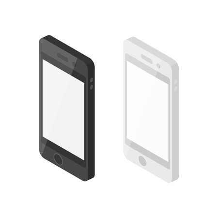 black and white: Isometric Smartphones, Black and White.