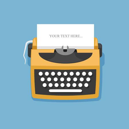 typewriter: Retro typewriter
