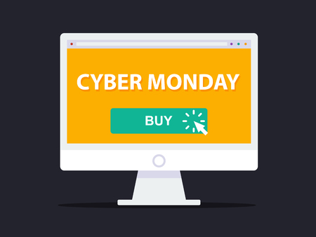Cyber ??Monday Concept. Flat Design Style. Stockfoto - 68404910