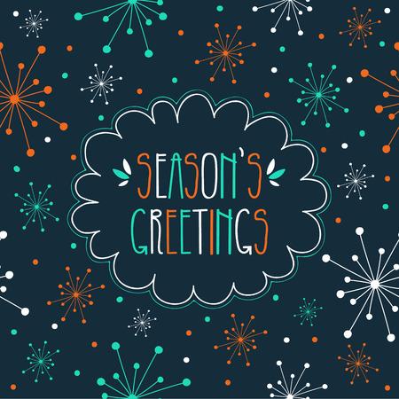 Groeten Hand Drawn Season's Card