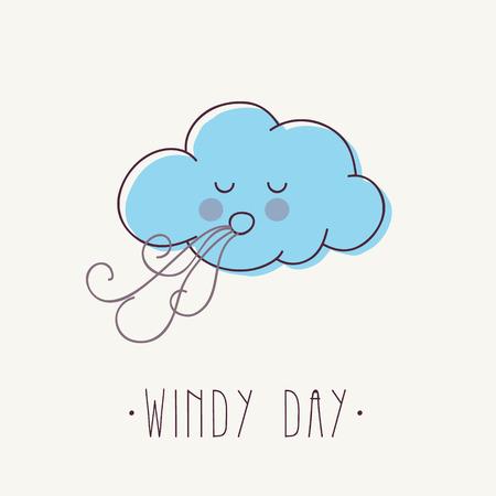 Illustratie van het beeldverhaal van Windy Cloud.