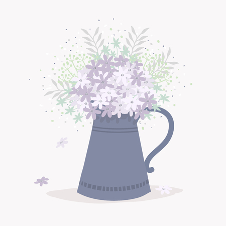Bouquet of Wildflowers in a Jug.