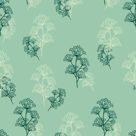 Naadloos bloemenpatroon. Stock Illustratie