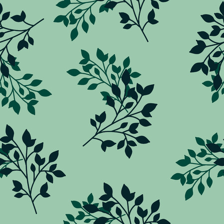 Hand Drawn Seamless Leaves Pattern. Stock Illustratie