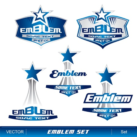 crests: Emblem set Illustration
