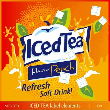 cubos de hielo: Iced Tea elementos de la etiqueta