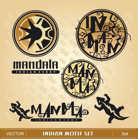 Indian Motif Set Vector