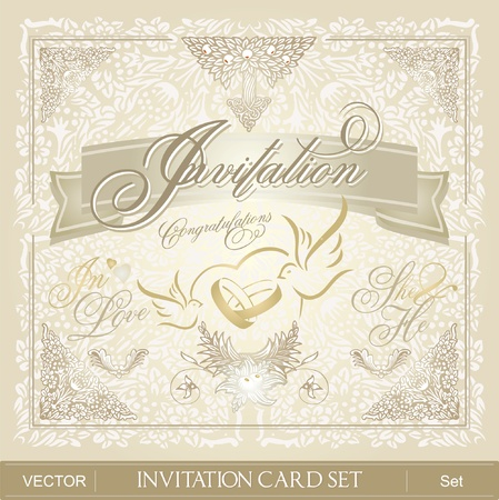 wedding reception decoration: Invitation Card Set