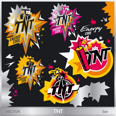 tnt: Illustrazioni TNT impostato