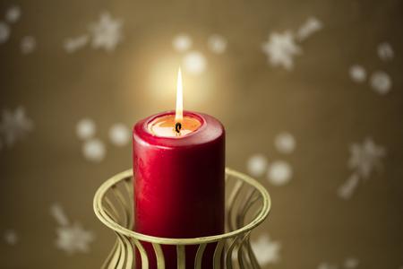 Christmas composition – lit candles.