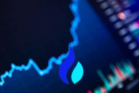 Huobi Token HT Cryptocurrency. Huobi Token growth chart on the exchange, chart