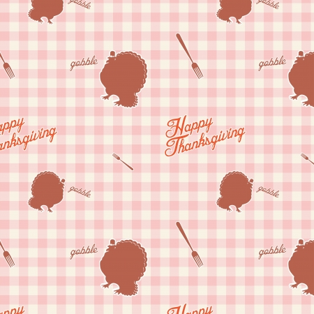 Vintage retro thanksgiving day seamless background pattern Vector