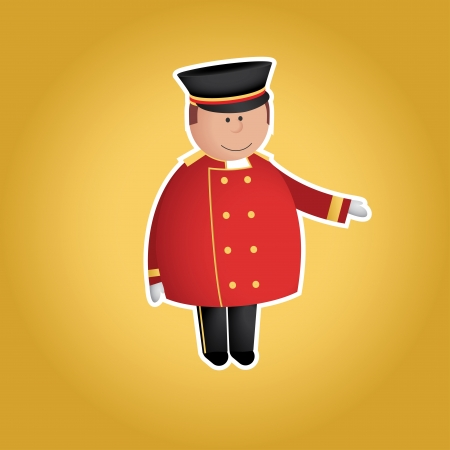 Cute doorman  Vector