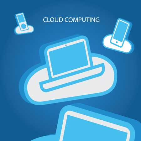Cloud computing abstract Vector