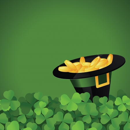 St  Patrick s Day festive frame with space for text  Vector