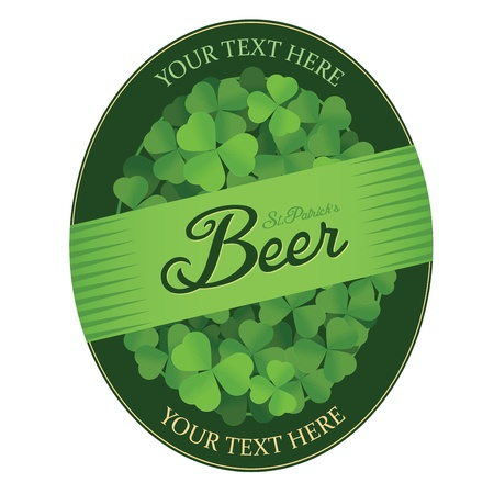 Saint Patrick s Day custom beer label Vector