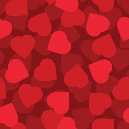 Red hearts seamless background pattern Stock Vector - 17010819