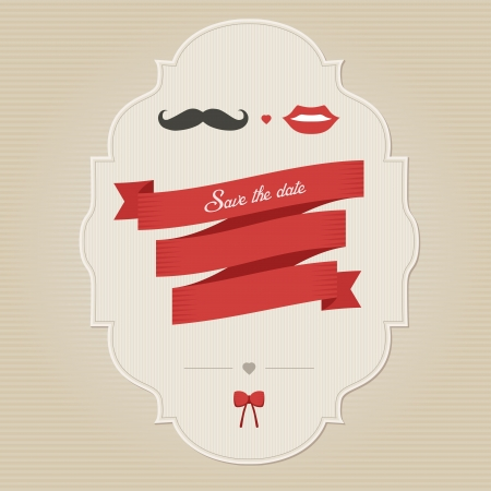 Vintage funny wedding invitation with place for text Vector